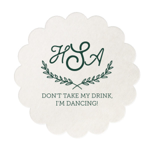 Monogram Don't Take My Drink Coaster