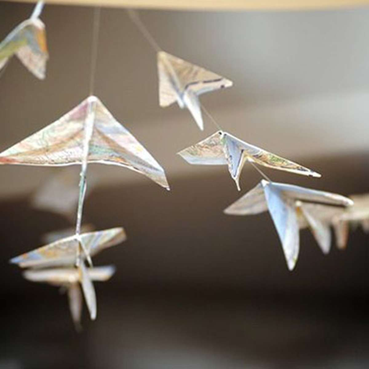 Paper Airplane Garland made with Maps