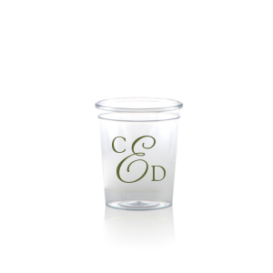 ForYourParty's personalized Matte Army Green Ink Plastic Shot Glass with Matte Army Green Ink Cup Ink Colors couldn't be more perfect. It's time to show off your impeccable taste.