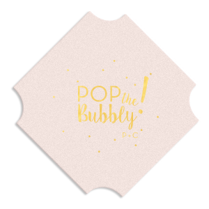 Our personalized Eggshell Round Coaster with Shiny 18 Kt Gold Foil Color has a Glitter Design graphic and is good for use in Lovely Press themed parties and will make your guests swoon. Personalize your party's theme today.