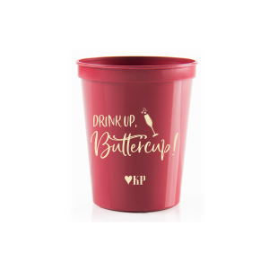 ForYourParty's chic Maroon 16 oz Stadium Cup with Matte Ivory Ink Cup Ink Colors has a Single flute graphic and is good for use in Drinks, Holiday, and Wedding themed parties and are a must-have for your next event—whatever the celebration!