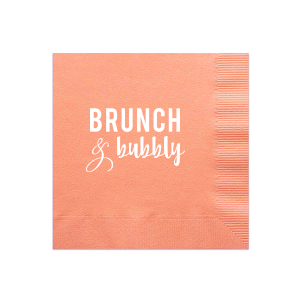 ForYourParty's personalized Light Coral Cocktail Napkin with Matte White Foil has a Ampersand graphic and is good for use in Accents themed parties and will add that special attention to detail that cannot be overlooked.