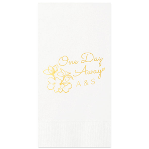 ForYourParty's personalized Woven White Woven Cocktail Napkin with Shiny 18 Kt Gold Foil will add that special attention to detail that cannot be overlooked.