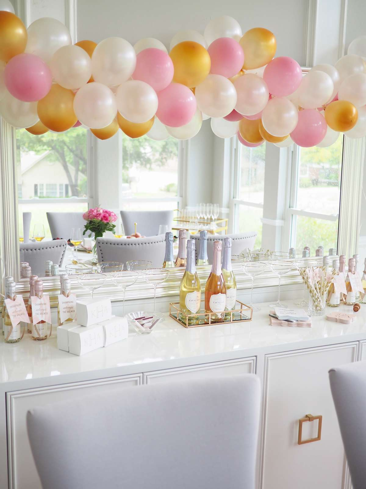 customized champagne party accessories