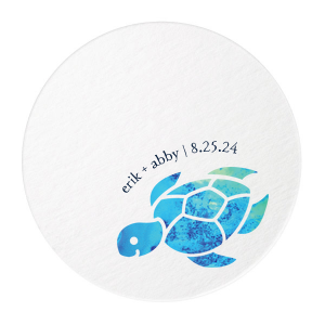 Sea Turtle Photo/Full Color Coaster