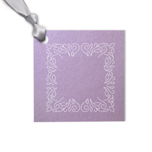 Our beautiful custom Stardream Lavender Square Gift Tag with Matte White Foil has a Linear Floral Frame graphic and is good for use in Frames, Floral, Trendy themed parties and will look fabulous with your unique touch. Your guests will agree!