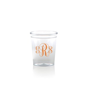 Our custom Matte Tangerine Ink Plastic Shot Glass with Matte Tangerine Ink Print Color can be customized to complement every last detail of your party.