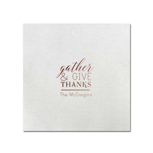 Gather Thanks Napkin