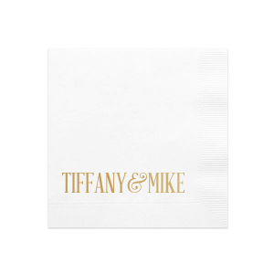 Our bold modern names custom wedding cocktail napkins will look fabulous at your wedding or bridal shower. Your guests will agree that your personalized wedding cocktail napkins are a perfect and unique touch!