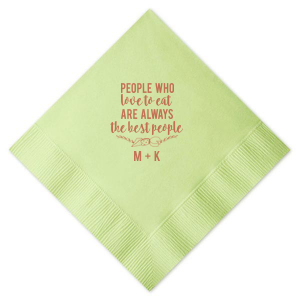 For Your Party's chic Marble Sand Cocktail Napkin with Satin Copper Penny Foil Color has our Cheese Flourish graphic, making it fabulous for greenery and foodie themed parties and bridal showers. Show off your taste at the next party you host.