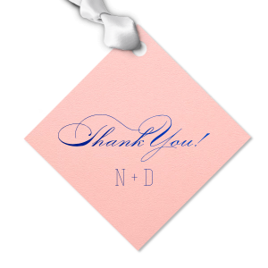 Elegant Thank You gift Tag