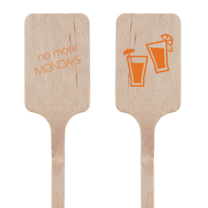The ever-popular Matte Tangerine Round Stir Stick with Matte Tangerine Foil has a Drinks graphic and will look fabulous with your unique touch. Your guests will agree!