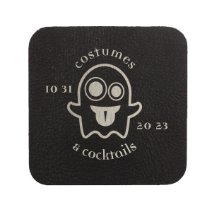 ForYourParty's elegant Black with Silver back Hexagon Coaster with Matte Key Lime Foil Color has a Ghost 2 graphic and is good for use in Halloween themed parties and will impress guests like no other. Make this party unforgettable.