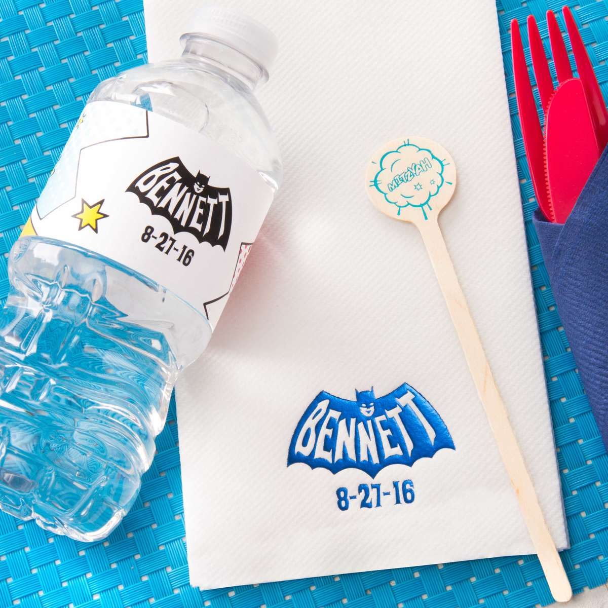 personalized party accessories for mitzvah planning