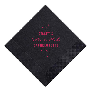 ForYourParty's elegant Black Cocktail Napkin with Matte Fuchsia Foil are a must-have for your next event—whatever the celebration!