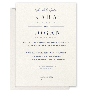 Our custom Lettra Pearl White 110lb Invitation with Shiny Rose Gold Foil has a Mountain Flourish graphic and is good for use in Geometric, Outdoors themed parties and are a must-have for your next event—whatever the celebration!