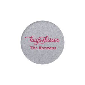 Our beautiful custom Classic Crest White Round Label with Matte Fuchsia Ink Digital Print Colors will add that special attention to detail that cannot be overlooked.