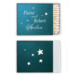 Our beautiful custom Watercolor Seaglass Riviera Matchbox with Matte White Foil will add that special attention to detail that cannot be overlooked.
