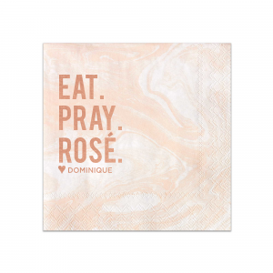 The ever-popular Marble Blush Cocktail Napkin with Shiny Rose Gold Foil are a must-have for your next event—whatever the celebration!