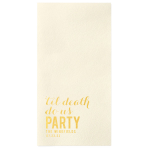Personalized Powder Blue Cocktail Napkin with Shiny 18 Kt Gold Foil can be customized to complement every last detail of your party.