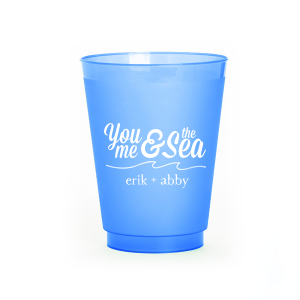 Custom Matte Royal Blue Ink 9 oz Frost Flex Cup with Matte Royal Blue Ink Cup Ink Colors has a Wave Flourish graphic and is good for use in Beach/Nautical, Accents themed parties and can't be beat. Showcase your style in every detail of your party's theme!