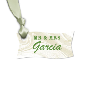 Our beautiful custom Marble Sand Rectangle Gift Tag with Matte Moss Green Foil can be customized to complement every last detail of your party.
