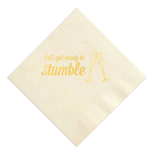 Champagne Stumble Napkin