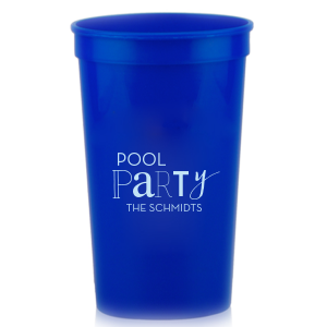The ever-popular Royal Blue 16 oz Stadium Cup with Matte Sky Blue Ink Cup Ink Colors will make your guests swoon. Personalize your party's theme today.