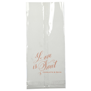 Custom Ivory Party Bag with Satin Copper Penny Foil can be customized to complement every last detail of your party.