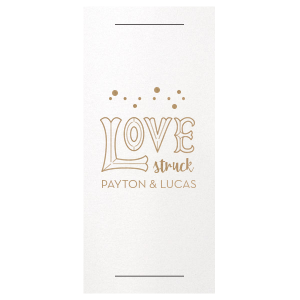 Personalized Stardream Crystal White Large Sparkler Sleeve with Shiny Champagne Foil has a Love 2 graphic and is good for use in Love, Wedding, Bridal Shower themed parties and will look fabulous with your unique touch. Your guests will agree!