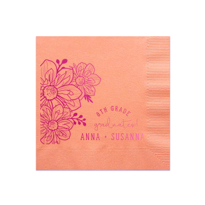 Flower Graduation Napkin
