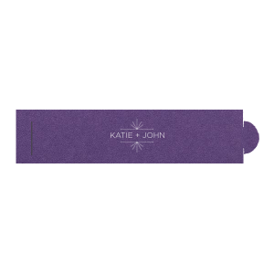 Our custom Natural Amethyst Napkin Ring with Matte White Foil Color has a Line Frame graphic and is good for use in Industrial, Modern, Frame themed parties and will impress guests like no other. Make this party unforgettable.