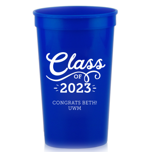 ForYourParty's personalized Silver 16 oz Stadium Cup with Matte White Ink Cup Ink Colors can't be beat. Showcase your style in every detail of your party's theme!