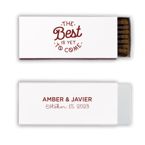 ForYourParty's elegant Stardream White Classic Matchbox with Matte Chocolate Foil Color has a The Best 2 graphic and is good for use in Words themed parties and will add that special attention to detail that cannot be overlooked.