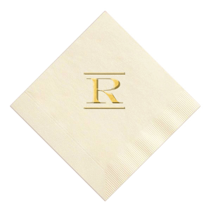 ForYourParty's chic Ivory Foil Embossed Cocktail Napkin with Shiny 18 Kt Gold Foil will look fabulous with your unique touch. Your guests will agree!
