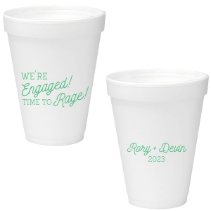 Our custom 16 oz Styrofoam Cup with Matte Spring Green Ink Cup Ink Colors can't be beat. Showcase your style in every detail of your party's theme!