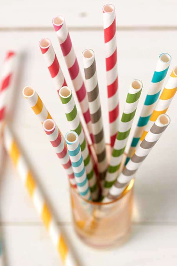 Stripe Party Straws