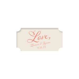 Custom Classic Crest Ivory Round Label with Matte Light Coral Ink  will impress guests like no other. Make this party unforgettable.