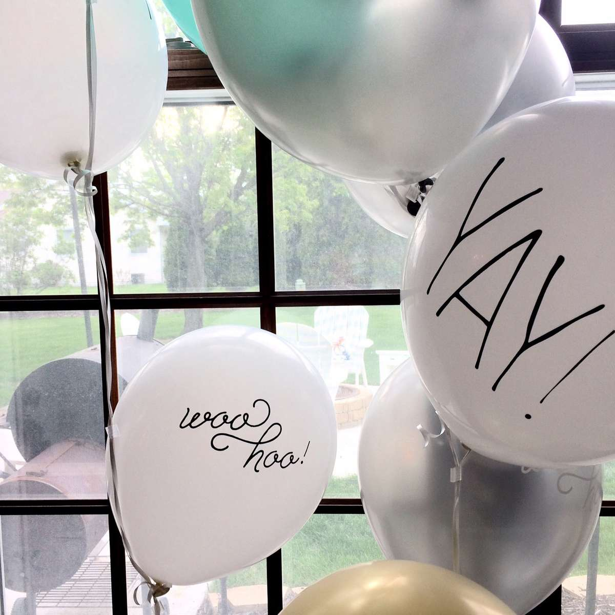 60th birthday party balloons
