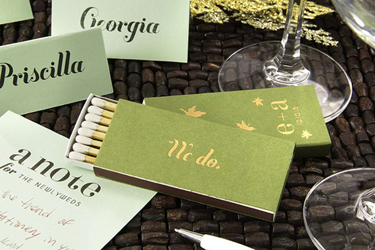 Personalized Matches Fall Wedding Favors