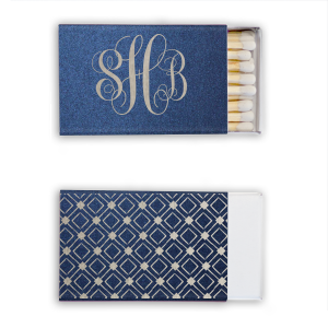 The ever-popular Stardream Navy Classic Matchbox with Shiny Sky Blue Foil has a Diamond Pattern 2 graphic and is good for use in Accents, Full Bleed, Geometric themed parties and will impress guests like no other. Make this party unforgettable.