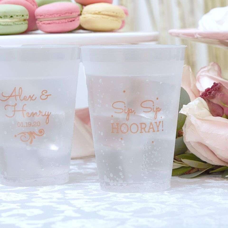 personalized reusable wedding cups