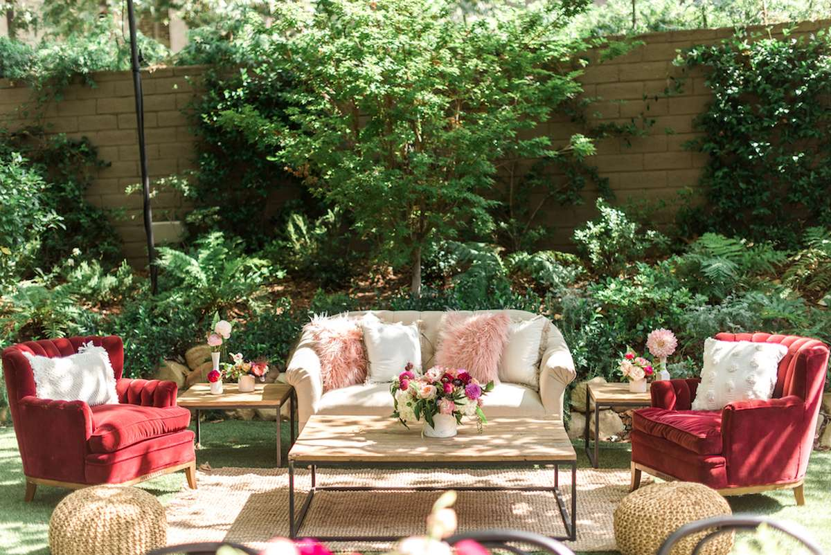 back yard shades of pink baby shower