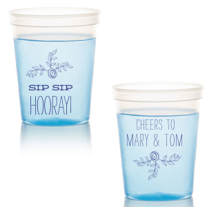 ForYourParty's elegant Royal Blue 16 oz Stadium Cup with Matte Sage Ink Cup Ink Colors has a Rose Accent 2 graphic and a Rose Accent 2 graphic and is good for use in Accents, Floral, Wedding themed parties and can be personalized to match your party's exact theme and tempo.