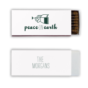 Our beautiful custom Natural Frost White Candle Matchbox with Matte Spruce Foil Color has a Angel 2 graphic and is good for use in Christian Symbols, Christmas themed parties and are a must-have for your next event—whatever the celebration!