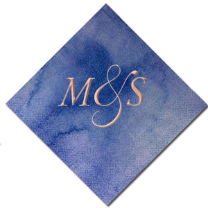 The ever-popular Watercolor Nightfall Foil Embossed Cocktail Napkin with Shiny Rose Gold Foil can't be beat. Showcase your style in every detail of your party's theme!