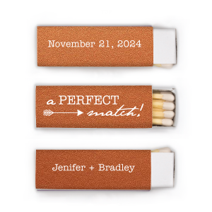"Love Arrow Wedding Match - White - Matchbox - Personalized - Set of 50 - 2.25 x 0.75"""" by ForYourParty.com"