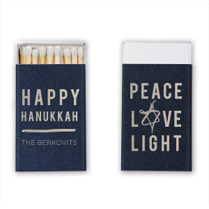 Our personalized Stardream Navy Riviera Matchbox with Shiny Sterling Silver Foil has a Painted Star graphic and is good for use in Jewish Symbols, Stars themed parties and will make your guests swoon. Personalize your party's theme today.