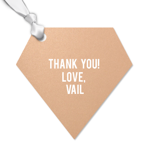 The ever-popular Stardream Rose Gold Heart Gift Tag with Matte White Foil Thank You tag couldn't be more perfect. It's time to show off your impeccable taste.