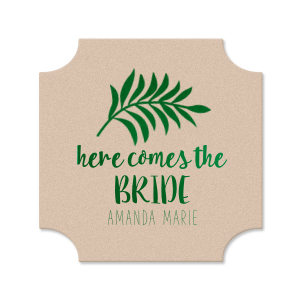 Our custom White Round Coaster with Shiny Leaf Foil Color has a Leaves graphic and is good for use in Floral themed parties and will give your party the personalized touch every host desires.